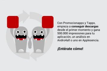 Se você tem um aplicativo … ganhe 500.000 impressões no Tappx ou duas análises no Difoosion!