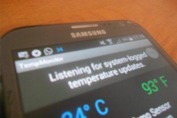 Mostre a temperatura do seu Android na barra de status