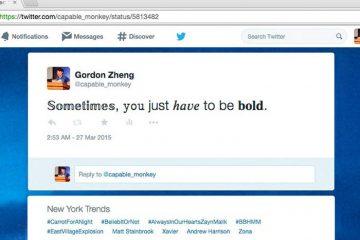 Com esta extensão para o Google Chrome, você pode formatar seus twits!