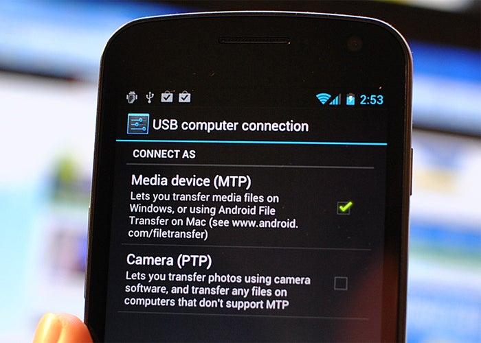 usb mtp computador conexão android