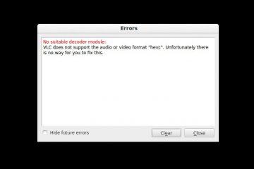 """Como corrigir o erro """"hevc"""" no VLC"""