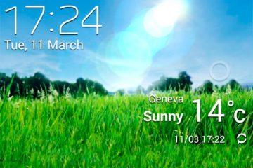 Mostre a temperatura ambiente na barra de status do seu Android