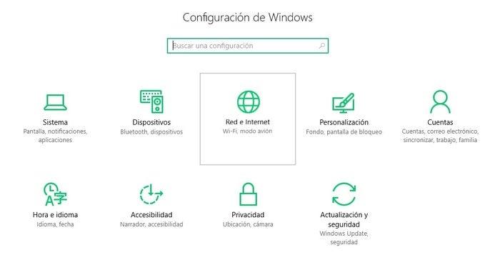 configuração do windows 10