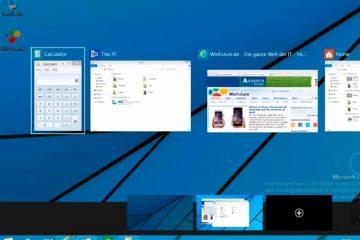Obter áreas de trabalho virtuais no Windows no estilo do Windows 9