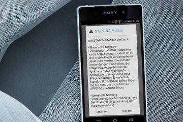 Ocultar a notificação do modo Sony Stamina com este módulo